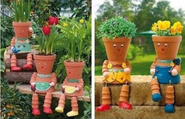 Разные поделки для сада своими руками